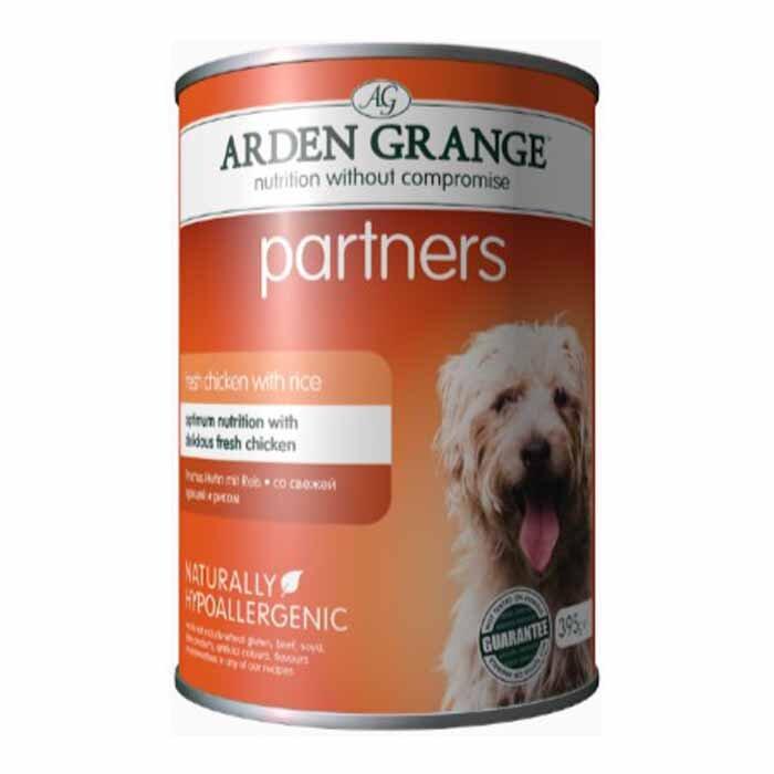 Arden Grange Partners Adult – fresh chicken with rice 24 x 395g