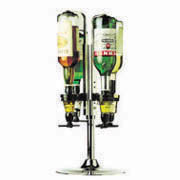 Rotary Stand Freestanding Silver 6 Bottle