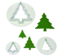 CT478 CHRISTMAS TREE SET OF 3.
