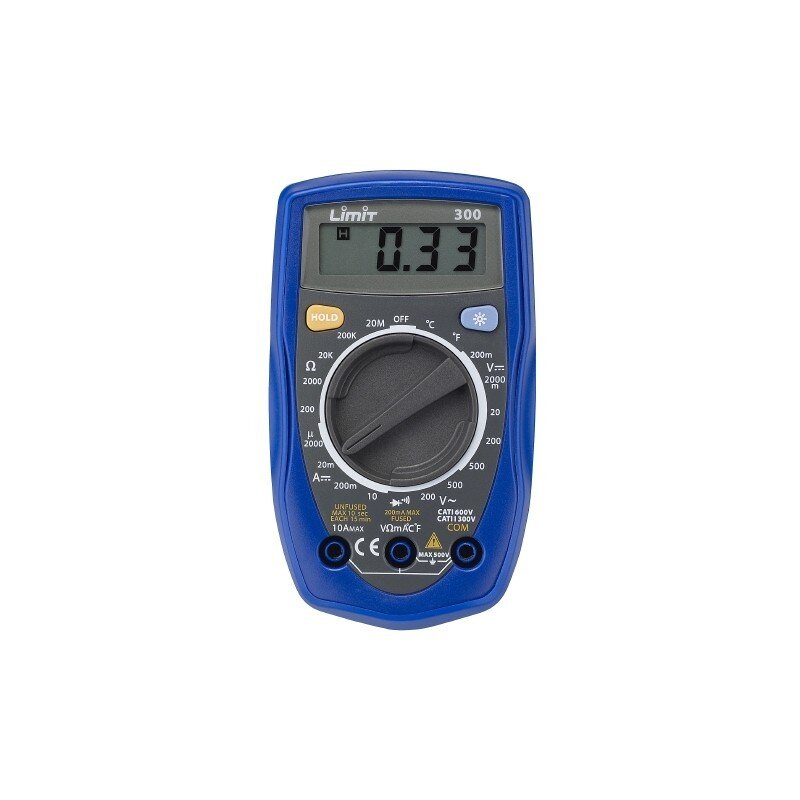 LIMIT 300 DIGITAL MULTIMETER MEASURES AC/DC,DC CURRENT,RESIS. & TEMP.