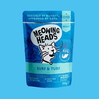 Meowing Heads Pouch Surf & Turf 100g x 10