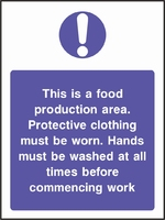 Food Processing and Hygiene Sign FOOD0013-0602