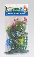 "Supa Plastic Aquarium Plants 5"" Mixed Pack of 12 x 1"