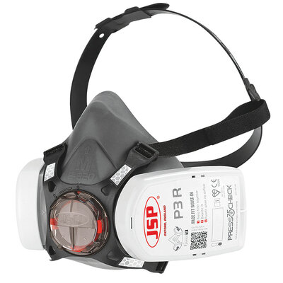 JSP BHT0A3-0L5-N0010 FORCE 8 HALF MASK WITH PRESS TO CHECK P3 FILTERS (Ploughing special offer)