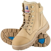 Steel Blue Southern Cross Lace Up Zip Side 150mm Safety Boot with Scuff Cap