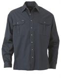 Bisley Cotton Drill Long Sleeve Shirt 190gsm