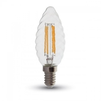 4W LED Candle Filament E14 Twist 2700K Dimmable