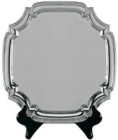 25cm Swatkins Heavy Square Nickel Plated Tray