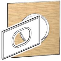 Arteor (British Standard) Plate 3 Module 2 Gang Round  Light Oak | LV0501.2732