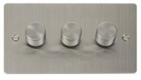 3G 2W 400W DIMMER FLAT SCREWED STAINLESS STEEL