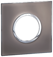 Arteor (British Standard) Plate 2 Module 1 Gang Round Mirror Taupe | LV0501.0185