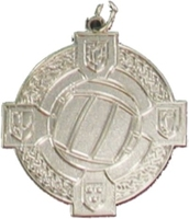 34mm Gaelic Football Medal - Silver