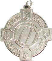 34mm Gaelic Football Medal (Silver)