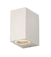 ZINC ZN-31759-POLALU FLEET SQUARE GU10 UP/DOWN EXTERIOR WALL LIGHT POLISHED ALUMINIUM