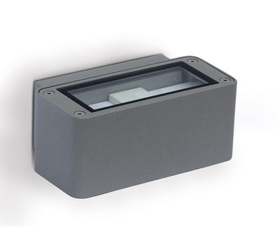 ONE Light Grey Sqaure 2x3w LED CREE Warm White IP54