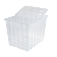 110L Storage Box Clear W/Folding Lid