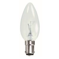 35MM TOUGH LAMP CANDLE  240/50V 25WATT SBC/B15 CLEAR