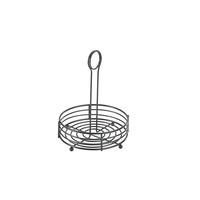 Wire Table Caddie Black 16.5 x 21.5cm