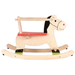 Traditional wooden rocking horse with safety seat