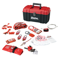 Master Lock Personal safety lockout toolbox, valve & electrical focus with Zenex™ thermoplastic padlocks