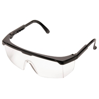 Clear Safety Spectacle Scratch Resistant Black Rim