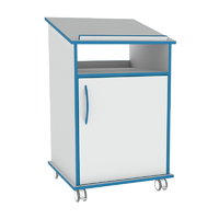 Sealwise Anti-Microbial Mobile Lectern with Door