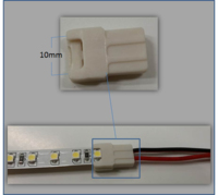 10 MM  LED TAPE  CONNECTOR  LESS LEAD