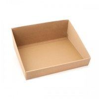 BOX TRAY NATURAL HIGH BACK 500X375X160MM NAT