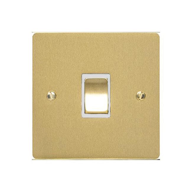 Heritage - Elite Flat Plate- 1 Gang 2Way Architrave Switch Satin Brass | LV0901.2192