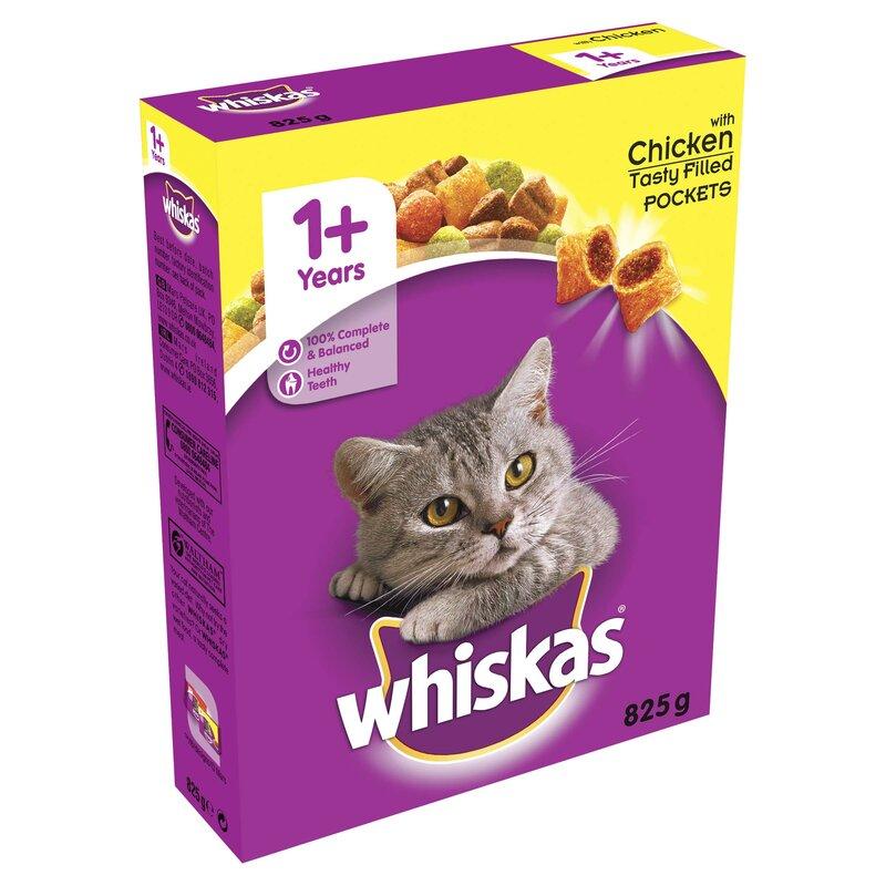 Whiskas Dry 1+ Chicken Cat Food 5 x 825g