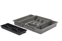 WHITEFURZE ADJUST DRAWER ORGANISER SILVER
