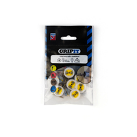 GRIPIT 15mm Yellow GRIPIT Pack of 8