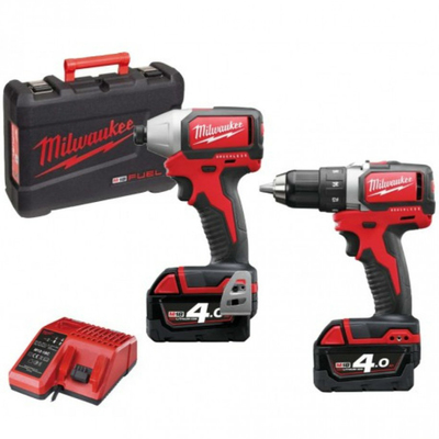 Milwaukee M18BLPP2A-402C Combi Kit