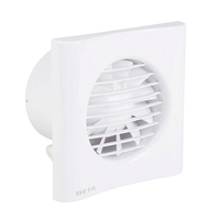 "DETA 4"" Bathroom Extractor Fan with Timer"