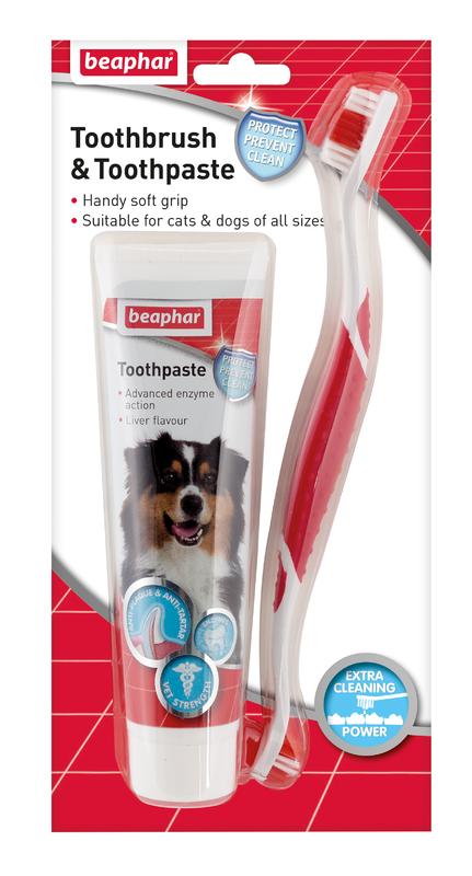Beaphar Toothbrush & Toothpaste x 6