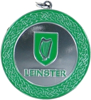 50mm Silver Enamelled Leinster Medallion