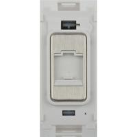 Flatplate Grid Stainless Steel Telephone Point Module LV0701.1342