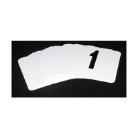 Banquet Table No Set PVC White with Black Numbers 1-50 incl