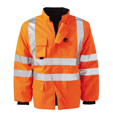 Ash Flame Retardant Anti Static Hi-Visibility Gilet Orange