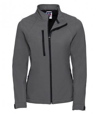J140F Ladies Grey Elite Softshell Jacket
