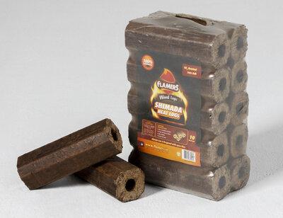 Flamers Shimada Heat Logs 10 Pack