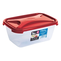 Cuisine 1.2Ltr Rectangular Food Box Chili Red Lid