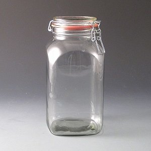 2.5ltr Clip Top Storage Jar. (Box of 12)