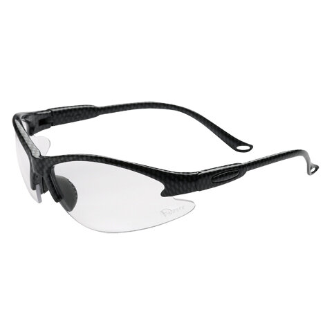 FOURLAKES B520 SILVER FRAME CLEAR SAFETY SPECS ANTI SCRATCH & ANTI FOG LENS