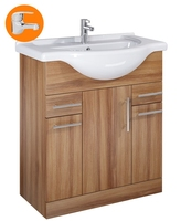 Sonas Belmont Walnut 75Cm Vanity Unit With Alpha Tap - * Special Offer