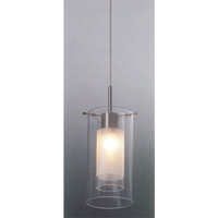 Muzzaone 1 Light Glass Pendant Clear & Frosted
