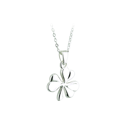 SILVER PLATED SHAMROCK PENDANT