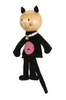 Cat Gold Range Wooden Head Finger Puppet. (Priced in singles, order in multiples of 6)