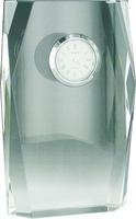 10cm Faceted Crystal Clock (Satin Box)