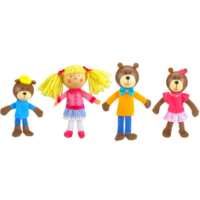 Goldilocks and the tree bears finger puppet set